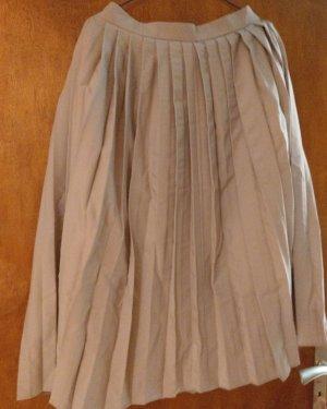 Geplooide rok licht beige