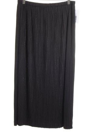 Jupe à plis noir élégant