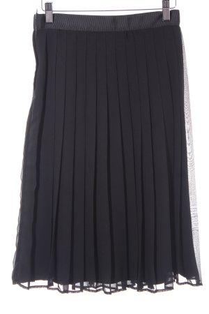Faltenrock schwarz Elegant