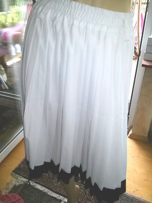 bardehle Plooirok wit-zwart Polyester