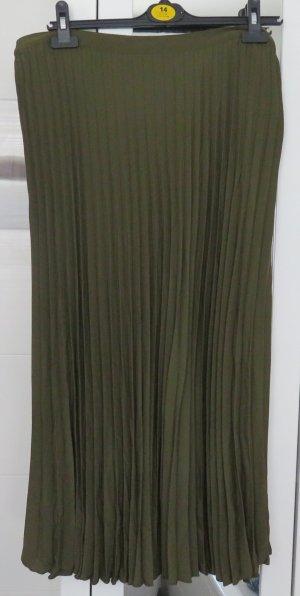 Faltenrock von H&M, oliv, Gr. 44