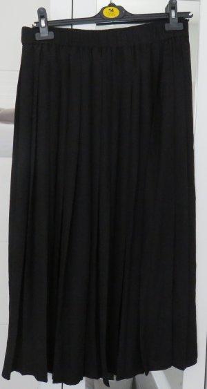 Faltenrock von H&M, schwarz, Gr. 42