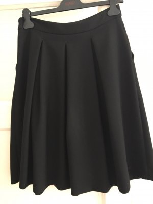 Hallhuber Jupe à plis noir polyester