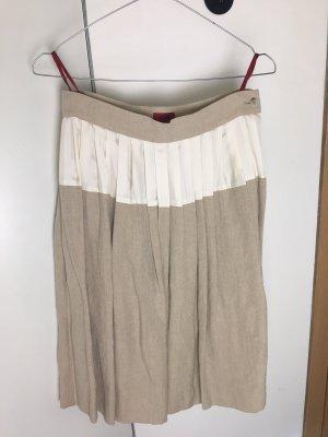 HUGO Hugo Boss Plaid Skirt oatmeal linen
