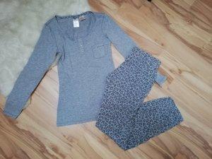 fancy Pyjama-Set in grau