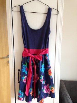 fancy Sommerkleid mit Schleife & Blumen