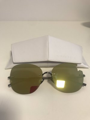 courreges Oval Sunglasses gold-colored