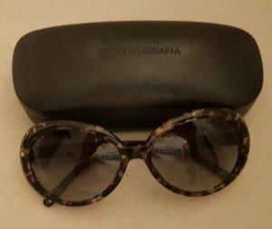 Dolce & Gabbana Hoekige zonnebril zwart-brons