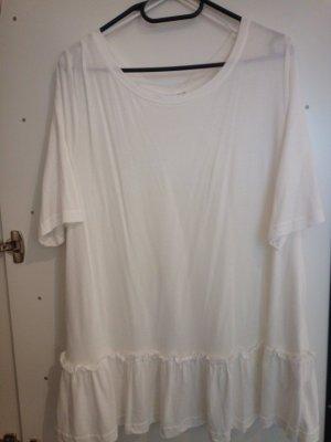 fantastisches Rüschen Shirt in Größe 48-50 wollweiß