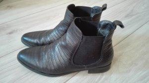 Fantasy Stiefeletten Chelsea Boots Echtleder schwarz Gr. 37 Leder