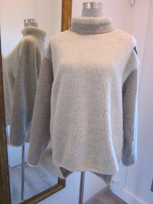 Fantic mega Pullover Grau Weiss Gr M #Ski