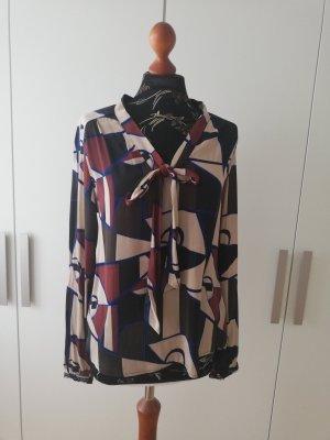Culture Tie-neck Blouse multicolored