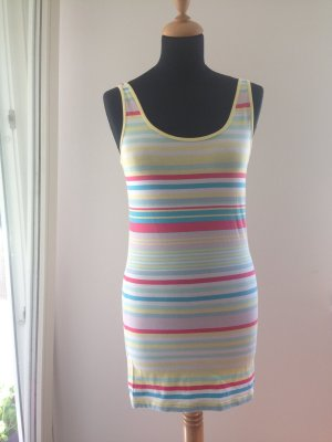 Farbe bunt Festival Sommer Mini Kleid Longtop Ringel Streifen gestreift Urlaub Ferien