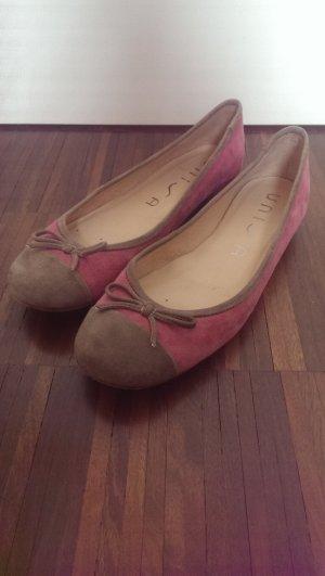 Farbenfrohe Ballerinas aus Wildleder