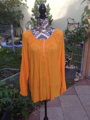 Alba Moda Long Sleeve Blouse gold orange viscose