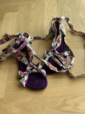 Sandalias romanas lila-violeta oscuro