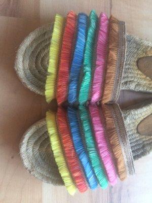 Claquette multicolore