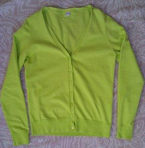 Farbenfrohe Strickjacke in frischem Hellgrün