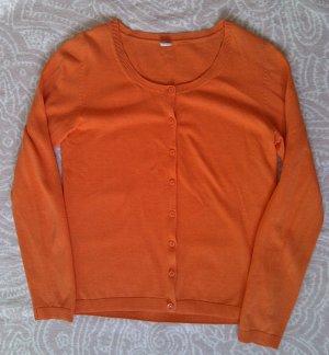 Farbenfrohe Strickjacke in kräftigem Orange