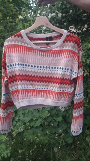farbenfroher Muster-Pullover