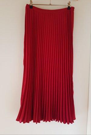 H&M Jupe plissée rouge fluo