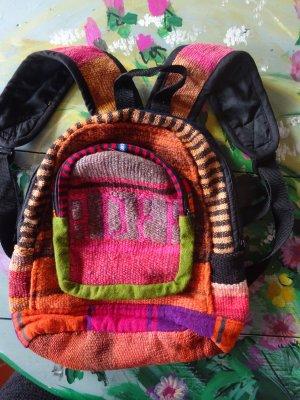 Sac à dos multicolore fibre textile
