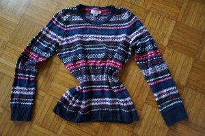 Farbenfroher Winter Pullover