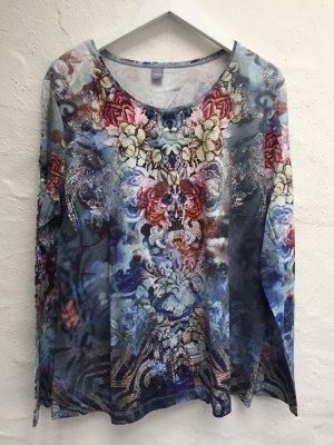 Farbenfrohes Longshirt mit Steinchen *ERFO* Gr. 48
