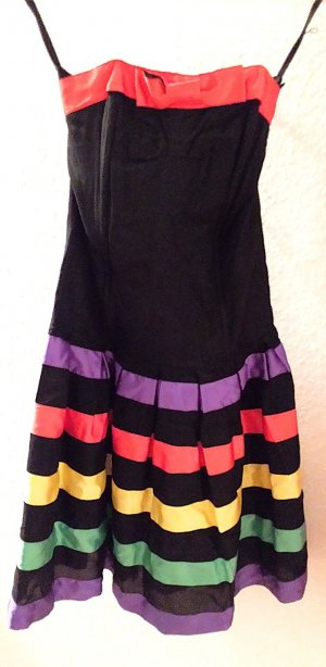 Robe avec jupon multicolore acétate