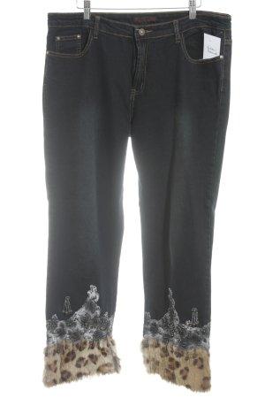 Farfalla Rosso Straight-Leg Jeans Animalmuster Casual-Look