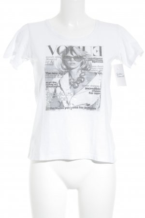 Farina Rosa Milan T-Shirt Motivdruck College-Look