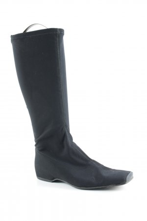 Farrutx Slouch Boots black simple style