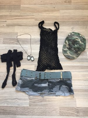 Fasching Kostüm Outfit Sexy Soldatin Größe 36/38 Faschingskostüm