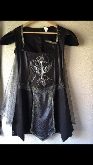 Faschingskostüm Gladiator schwarz Silber