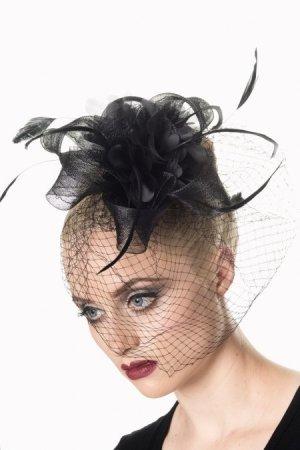 Bijoux pour la tête noir matériel synthétique