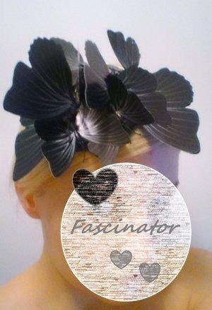 Fascinator Schmetterlinge schwarz Hut