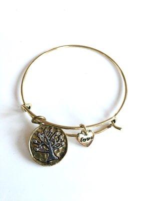 Fashion Armband goldfarbig mit Anhänger