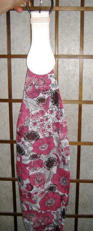 Fashion Belt Stoff weiss/pink Blumen