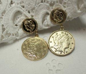 Fashion Coin Earrings 90s true Vintage