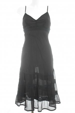 Fashion concept Fringed Dress black simple style