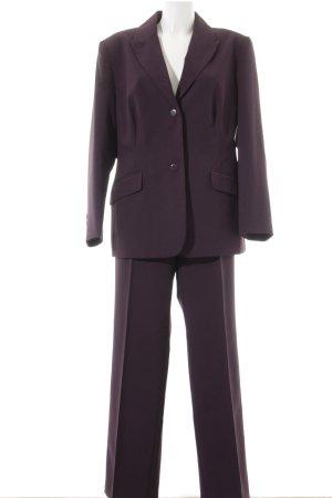 Fashion concept Trouser Suit brown violet elegant