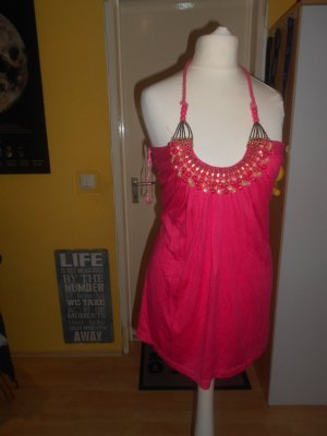 Fashion Elle - pinkes Neckholdertop Gr. T2 (M)