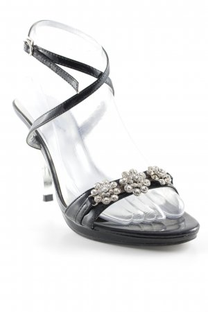Fashion Girl Strapped High-Heeled Sandals black elegant