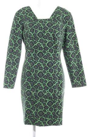 fashion hero for Karstadt Langarmkleid grün-schwarz abstraktes Muster