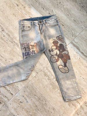 100% Fashion 7/8-broek zilver-azuur