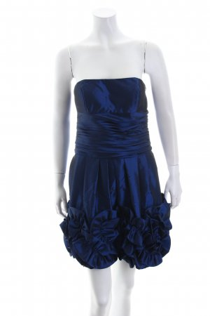 Fashion New York Ballkleid dunkelblau Glanz-Optik