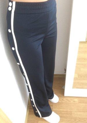 High Waist Trousers blue-white
