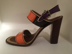 Prada High Heel Sandal orange-dark violet leather