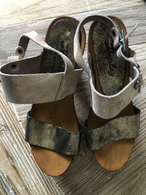 *** FASHION REPLAY SANDALE- METALIC/HOLZ - NEU!***