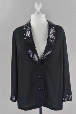 Fashion Style Blazer mit Pailletten schwarz Größe 44